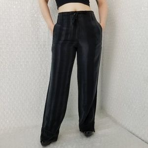 Ann Demeulemeester classic striped satin trousers